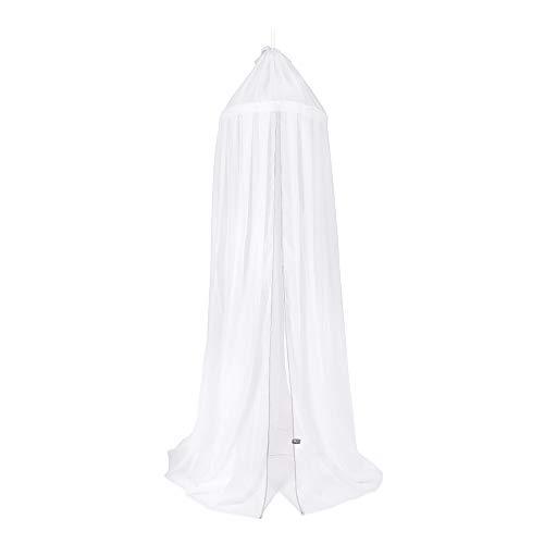 BO Baby's Only - Ciel de lit - Blanc/Gris Argent - 5% coton/5% acrylique/90% polyester