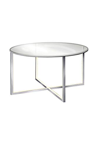 Sompex Table Basse Aluminium Grise Plateau Rond TAVOLA