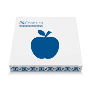 24Genetics - Test de ADN de NUTRIGENÉTICA - Prueba genética de Nutrición - Incluye kit de ADN y test de Ancestros