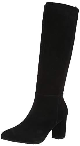 Blondo Women's Tale Waterproof Fashion Boot, Black Suede, 6 M US