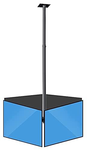 TabloKanvas TELEVISOR Soporte Tres Techo de Pantalla TELEVISOR Soporte de 32'-75' Rotación de inclinación TELEVISOR Monte Acero Ajustable (Size : Four Screens)