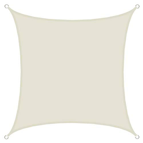 AMANKA UPF50+ Sonnensegel 2x2 Polyester Quadratisch Wasserabweisend Wetterfest Garten Balkon Beige