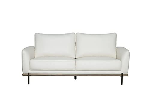 Global Furniture USA White/Grey KYLIE Mirror Global Furniture USA Recessed Arm Sofas, Standard