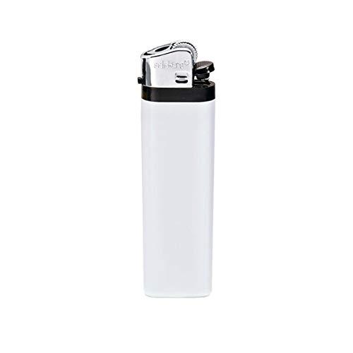 PureDay Feuerzeug, VOLLFARBEN Selektra - Einweg - Kunststoff - Weiß