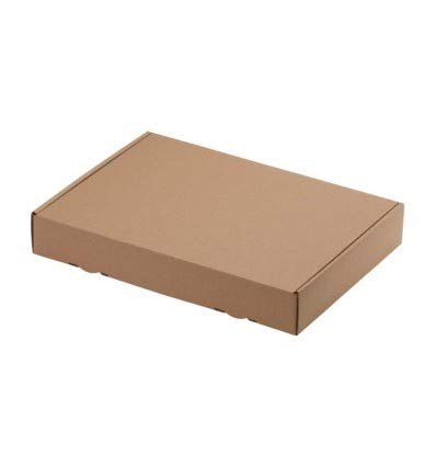 IMBALLAGGI 2000 Scatole Di Cartone Fustellata Piatta Cartone Per Imballaggi Misura Pezzi (30X24X5 CM, 10)