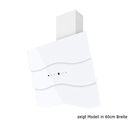 Dunstabzugshaube Wandhaube F.BAYER WAVE 90W 90cm Weiß Dunstabzug 850m³/h EEK A LED