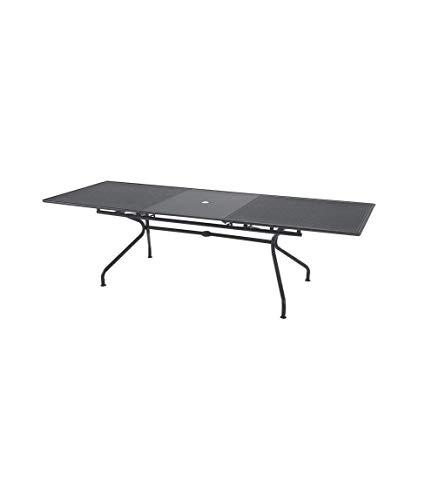 EMU Table pour extérieur extensible, modèle Athena de marque Dimensions 160 + 50 x H 90 cm – Couleur fer antique – Fabriquée en Italie