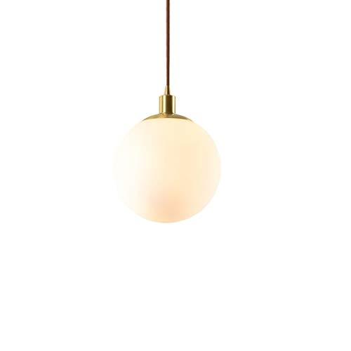 Yyqx Lámparas Colgantes Latón Dormitorio de Noche Comedor Lámpara Cuarto de Bola de Cristal Redonda Barra de la Personalidad Creativa de una Sola Cabeza pequeña araña Lámpara de Techo Colgante