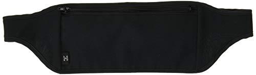 Amina 旅行用 シークレットベルト 腹巻き 仕様 の ウエストポーチ (パスポート などに) Mサイズ ブラック