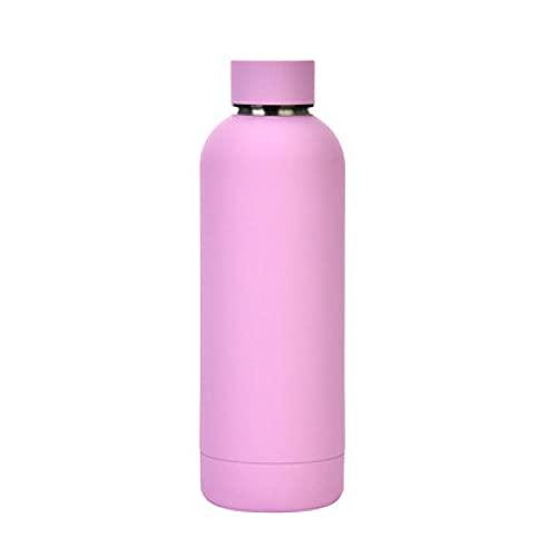 SDGSDG Botella de agua aislada de acero inoxidableOutdoor water bottle portable sportswater cup thermos cup-Purple_500mlpara fitness, gimnasio, senderismo, bicicleta, yoga,
