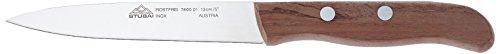 Stubai 760001 Küchenmesser ohne Wellenschliff, SB-Verpackung, 130 mm, edelholz