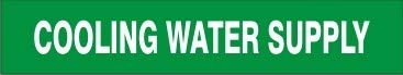 Cooling Inventory cleanup selling sale Water Supply – Pipe Marker Vinyl- Genuine - Adhesive 18 Un