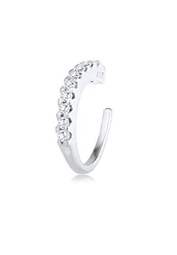 Elli oorbellen single oorcuff zirkonia kristallen trend 925 zilver