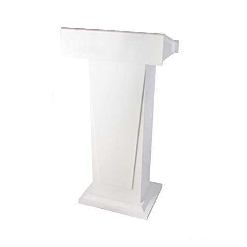XMSIA Atriles LECTERA DE Habla DE Madera con Dos ESTANTES PEESTAL Grande Piel Solamente Solamente para el Discurso de Negocios de la Iglesia de la e (Color : White, Size : 58x43x117cm)