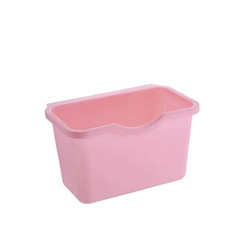 Cubo de basura para colgar en puertas de armario de cocina, almacenamiento de residuos de vegetales y alimentos y residuos de alimentos. Educación musical, concierto, curación mental (color rosa).