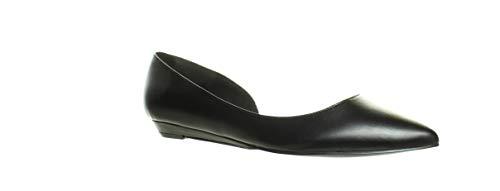 NINE WEST Women's Saige Ballet Flat, Black 3, 9.5