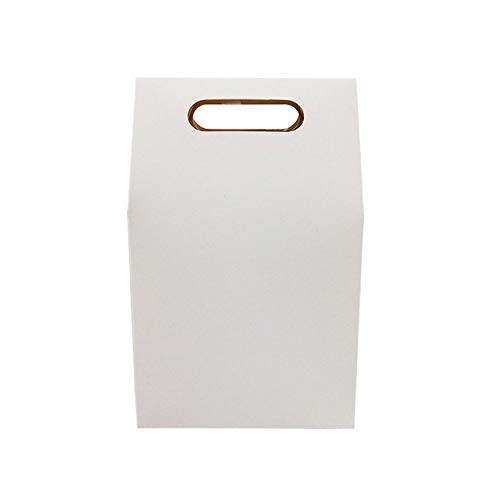 geschenkdoos LKU 50 stuks/partij dessertdoos bruiloft bruine en witte kraft papieren zak blanco verjaardagscadeau doos, wit