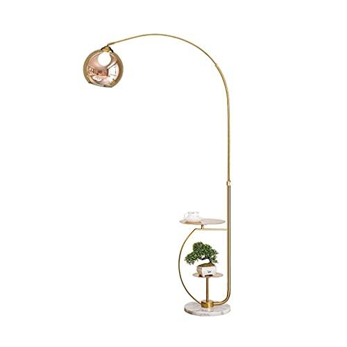 FYRKYP Lámparas de Pie Lámparas de Pie Modernas con Tono de Cristal Transparente, Polo de la Forma de Pesca, Lámpara de Pie con Mesa, Lámpara de Pie para la Bandeja para la Lámpara de Pie Moderno par