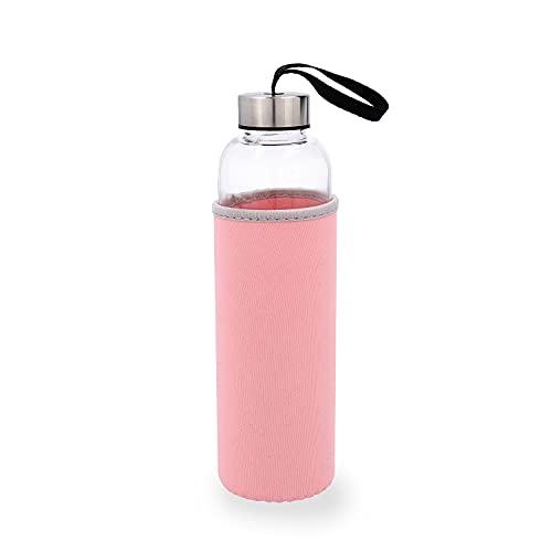 Quid QUIDATE - Botella Vidrio Con Funda Neopreno Rosa 0,60L