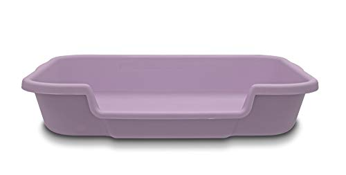 Kitty Go Here Senior Cat Litter Box for Cats That Can't cope with a Traditional Litter Box. Storybook Lavender Color See Photo of Dimensions.No lid Available. USA