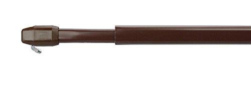 WR-Design 2er Set Vitragestange Scheibengardinen Stange Farbe braun - 30-180 cm ausziehbar (60-110 cm)