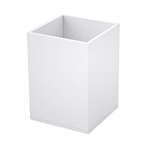 NIUBEE ペン立て 白いアクリル製 筆箱 直方体鉛筆ホルダー クリア 収納ボックス 文房具、メイクブラシなど小物入れ 卓上収納 オフィス、学生の日常生活事務用