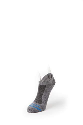 FITS Compatible avec Ultra Light Runner – No Show : Light Chaussettes de Course, Homme, Gris Clair, XX-Large