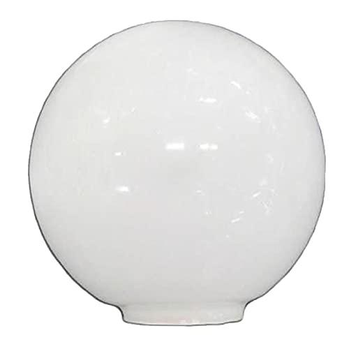 Lampenglas glas kugel opal 12 cm mund - 5cm LB 529550