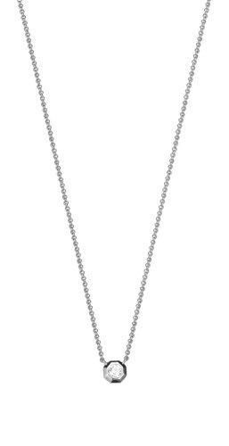 ESPRIT Damen-Kette mit Anhänger JW52890 925 Silber rhodiniert Zirkonia transparent 42 cm-ESNL93459A420