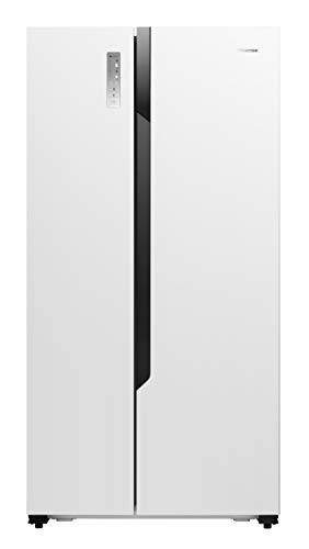 HISENSE rs670 N4hw1 de Side By Side – Réfrigérateur de Side By Side (transfert, blanc, American Door, A +, LED, SN-N)