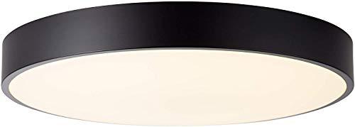 LED Deckenleuchte 49cm, 1x 60W LED integriert, 1x 4800 Lumen, 3000-6000K, Metall/Kunststoff, weiß/schwarz