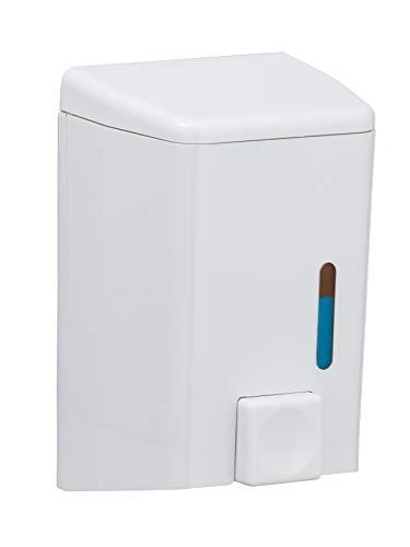 Wenko 18410100 Seifenspender Cremona, Flüssigseifen-Spender, Spülmittel-Spender Fassungsvermögen: 0,5 l, Acrylnitril-Butadien-Styrol (ABS), 10 x 16 x 8,5 cm, weiß