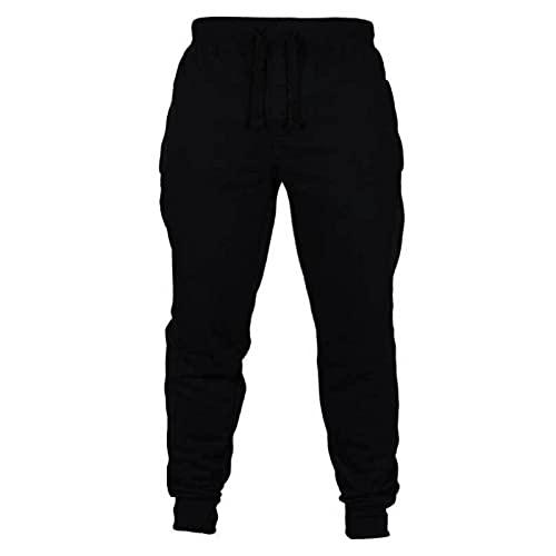 Pantalones Deportivos para Hombre Primavera Simple Color sólido Cordón Cintura elástica Pantalones Casuales Pantalones Deportivos de Entrenamiento para Correr al Aire Libre M