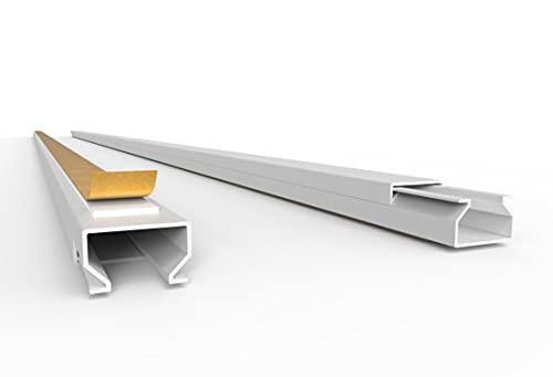 Goulotte de câbles autocollante 20 m – Blanc – Noir – Gris – Avec ruban adhésif en mousse Prête au montage