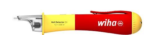 Wiha Spannungsprüfer VDE, Stromprüfer explosionsgeschützt, Phasenprüfer berührungslos, einpolig 12 – 1.000 V AC (44309), inkl. 2x AAA-Batterien