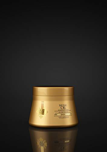 L\'Oréal Professionnel Paris Mythic Oil Maske Normales bis Feines Haar, Pflegemaske für Glanz & Geschmeidigkeit, Haarpflege angereichert mit Öl, nährt strapaziertes & trockenes Haar intensiv, 200 ml