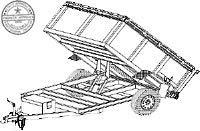 Hydraulic Dump Trailer Blueprints (8' x 5' - Model AD08)