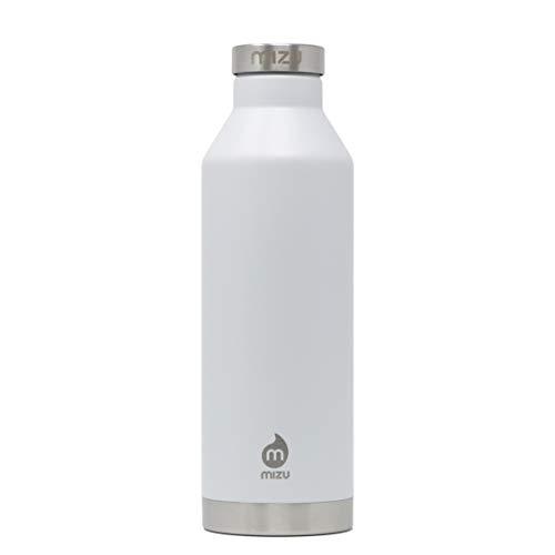 Mizu Life V8 Trinkflasche, Enduro White, 800ml