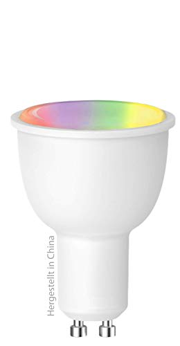 Swisstone SH 360 Smart Wifi LED-lamp, GU10 (380 lumen, 4,5 watt) LED multicolor (RGB), spraakgestuurd, compatibel met app, werkt met Amazon Alexa en Google Home, SH 360