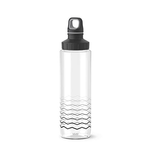 Emsa Drink2Go Tritan F30308 Trinkflasche   0,7 Liter   Schraubverschluss   100{5b4f10a8fdf187c3f99100497b6254a267b930a327e0bfdfb57c09d626796874} dicht   auslaufsicher   spülmaschinenfest   BPA frei   umweltfreundlich   Explore   Waves
