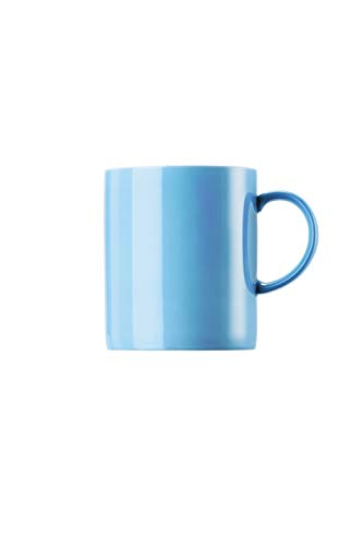 Thomas Rosenthal - Sunny Day Waterblue Becher mit Henkel - Kaffeebecher - Henkelbecher - groß 0,4 l