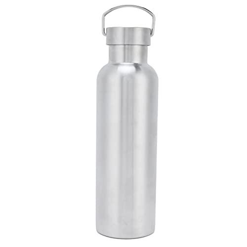 Botella deportiva al vacío, 750 ml Botella de agua a prueba de fugas con aislamiento al vacío de acero inoxidable de doble capa para deportes al aire libre