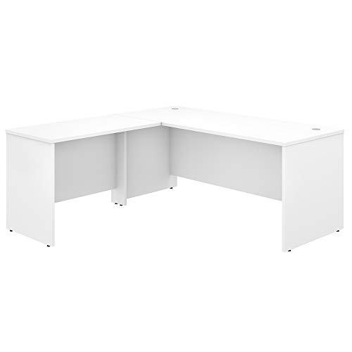 Bush Business Furniture Studio C L Shaped Desk with 42W Return, 72W x 30D, White