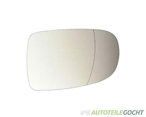 Set Spiegelglas verchromt Konvex für OPEL CORSA C X01 00-10 von Autoteile Gocht