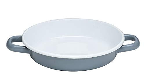 Generisch Riess, 0293-065, Eierpfanne 18cm, Pure Grey, emailierter Stahl, Grau, 0,391kg, 18cm Durchmesser, 25,8 x 19,8 x 4cm