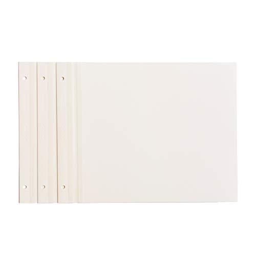 Kolo Nachfüllseiten für Newport Scrapbook, 21,6 x 27,9 cm, Weiß