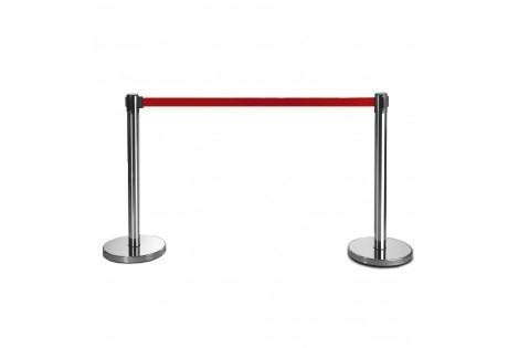 Bright Red 6/' Tensator 6 Lawrence metal ROPE-VELR-22-060-2-HOOK-1P Rope Velour
