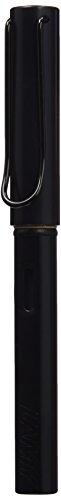 LAMY AL-star Füllhalter 071 – Füller aus Aluminium in der Farbe Schwarz mit transparentem Griffstück und Stahlfeder – Federstärke B