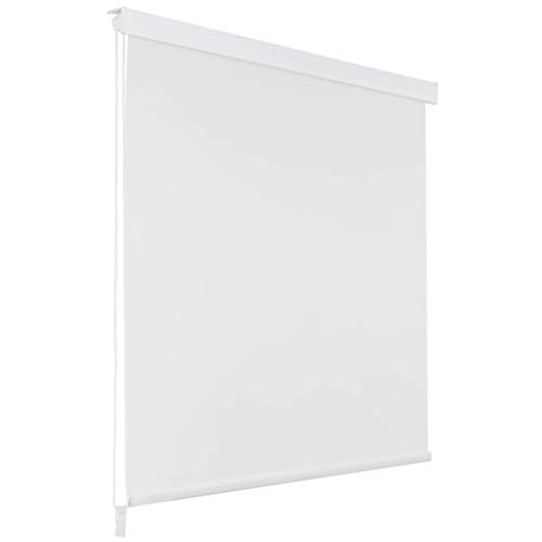yorten Duschrollo Duschvorhang Dusche Rollo Badewannenvorhang Wasserfest 140 x 240 cm (B x L) Weiß