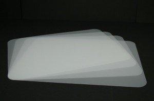 Tischunterlagen-Set transparent, 4-teilig, abwaschbar, Tischset, Platzset